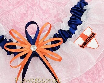 Pick Charm - University of Virginia Cavaliers - UVA handmade bridal wedding garter - keepsake