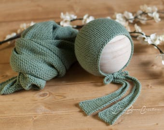 Sage Green Cameron Bonnet or Wrap