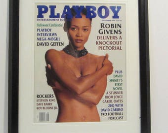 Vintage Playboy Magazine Cover Matted Framed : September 1994 - Robin Givens