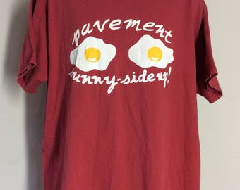 Vtg 90s Pavement Sunny Side Up T-Shirt XL Alternative Indie Rock Band