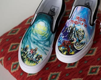Custom Hand-Painted Iron Maiden Vans Shoes