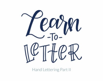 MCC Continuing Education Hand Lettering Part II Guide Book