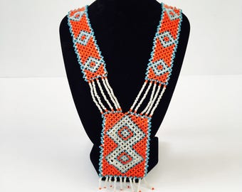 Vintage 70's  Beaded Necklace