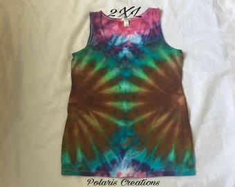 In stock!! Ready to ship!! Tie dye tank top (2XL)!!