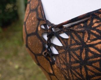 Woven Geometric Print Pixie Dress