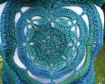 Blue Crochet Pixie Waistcoat