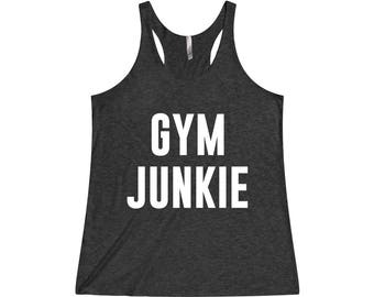 Gym Junkie - Funny Workout Tank, Fitness Tank, Funny Gym Tank, Gym Tank Top, Gym Tank, Workout Tank Top, Gym Shirt, Gym Tank Top