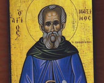 St. Maximus the Confessor.Christian orthodox icon. FREE SHIPPING