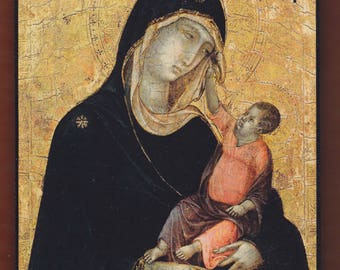 Madonna and Child, Duccio di Buoninsegna.FREE SHIPPING