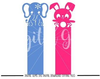 Bookmark svg / dxf / eps / png files. Digital download. Compatible with Cricut and Silhouette machines. Small commercial use ok.
