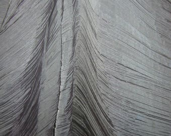 FABRIC grey effect ORGANZA RUFFLED - by the yard