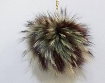 Fur bag charm,Colorful fur balls,Large fur keychain,Large pom pom,Fur charm,Fur pom pom,Pom pom keychain,Fur ball keychain F559