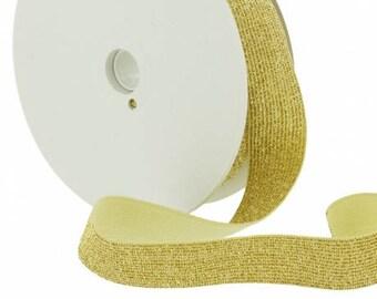 Elastic lurex gold 20mm