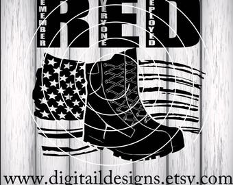 Remember Everyone Deployed SVG - png - dxf - Eps - Fcm - Ai - Cut File - Silhouette - Cricut - Scan n Cut - Military Wife - Military Spouse