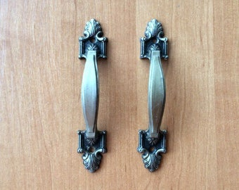 Old soviet metal door handles vintage, Antique Door knobs USSR