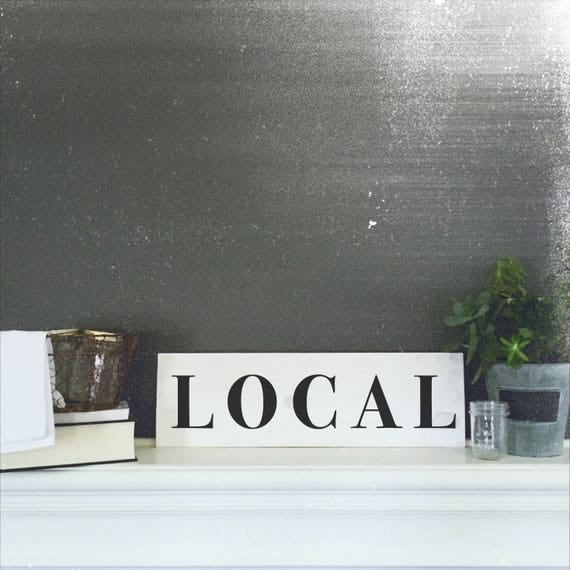 Local farmhouse sign hand painted reclaimed wood sign for Local reclaimed wood