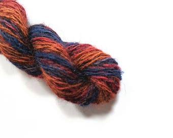 """Handspun Wool Striping Yarn: """"Scottish Dragon"""""""