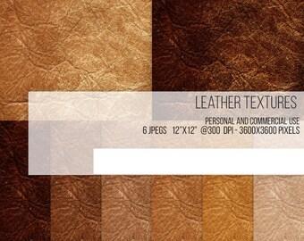 SALE! Rustic Tan Leather Texture Digital Paper Scrapbook Background Worn Brown Faded Caramel Grain Americana Design Clip Art Clipart
