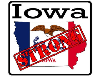 Iowa State (K16) Strong Flag Vinyl Decal Sticker Car/Truck Laptop/Netbook Window