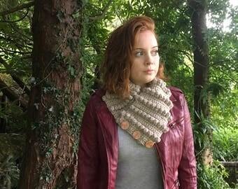 PDF crochet pattern - chunky scarf pattern - chunky cowl pattern - crochet scarf pattern - asymmetrical scarf pattern