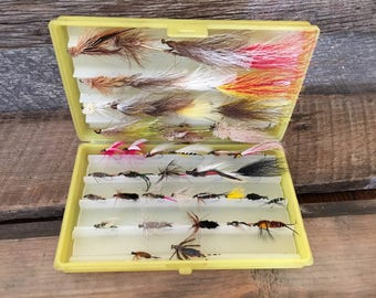 Vintage Flying Fishing Lures, Scientific Anglers, Midland, Michigan, Artificial Fly Fishing Bait, Father's Day Gift