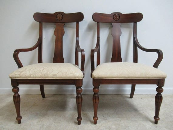 ONE Ethan Allen British Classics Dining Room Arm Chairs
