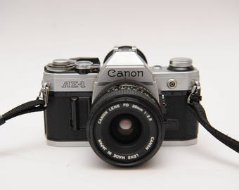 Classic Canon AE-1 Kit with 28mm f2,8 lens