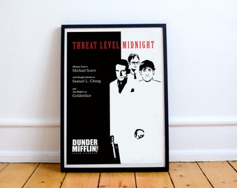 FREE SHIPPING** The Office Poster - Threat Level Midnight - The Office, The Office TV Show, The Office Poster, Michael Scott