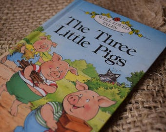 Three Little Pigs. A Vintage Ladybird Book. Well Loved Tales. Seroes 606D. 1990