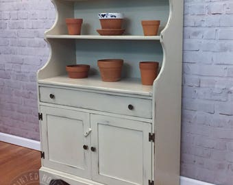 Antique Dry Sink Refinished Black Distressed