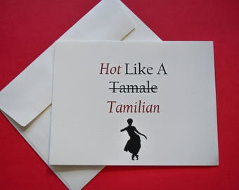 Hot Like A Tamilian Card For Birthday/Just Because/ Sympathy/Special Occasion/Congrats - South Asian/Indian/Sri Lankan Tamil Card