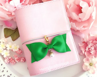 Fabric Bow Paperclip / planner charm - Planner accessories | planner goodies | traveler's notebook flower clip charm