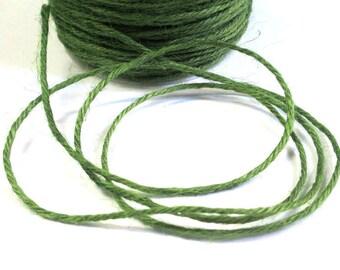 5 m khaki Green 2mm hemp cord
