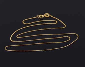 0.6mm Box Link Chain Necklace Gold