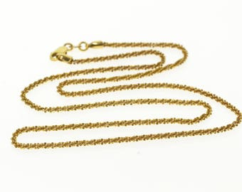 14k 2.0mm Rolling Fancy Pinwheel Link Chain Necklace Gold 18.25""