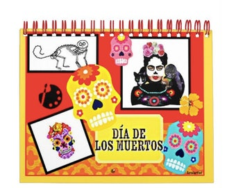 2018 Wall Calendar,Original Drawings, Day of the Dead,Frida Kahlo,Mexican Artist, Unisex Holiday Gift,Gift for Women, Gift for Men