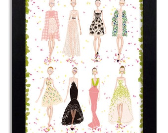 Oscar de la Renta - Fashion Illustration Print Fashion Print Fashion Art Fashion Wall Art Fashion Poster Fashion Sketch Art Print