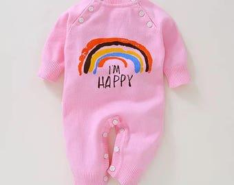 Baby knitting Romper