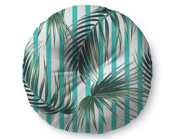 Vintage Tropical Stripe -  floor pillow