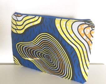 Printed blue pouch