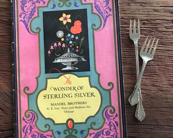 The Wonder Of Sterling Silver Mandel Brothers Art Nouveau Booklet Antique