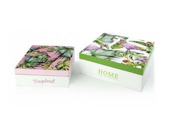 Box 2 pieces Tropical