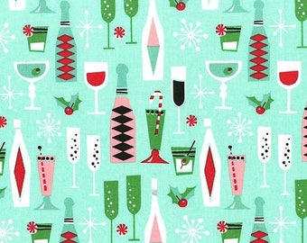Holiday Party in Mint from Michael Miller Fabrics