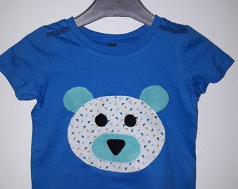 t-shirt boy size 12 months bear pattern