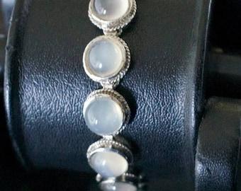 ON SALE Stylish Moonstone Silver Bracelet