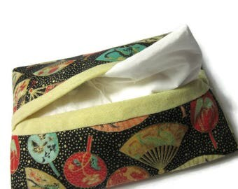 cover, cover, tissue paper, tissue case Japanese fans, black multicolor