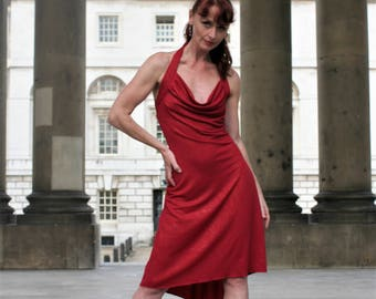 Tango halterneck dress- VESPER Red