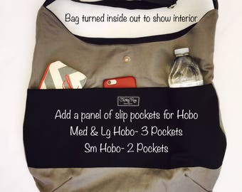 Hobo Bag Panel of Slip Pockets Add-On*