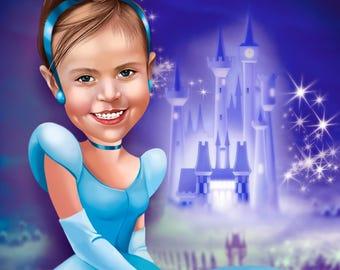 Custom Elsa Portrait / Frozen Invitations / Elsa Invitation / Frozen Party Ideas / Frozen Party Invite / Frozen Portrait / Frozen Birthday