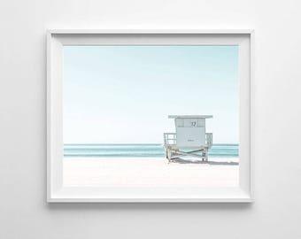 Beach photography art, PRINTABLE art, California wall art, Large wall art, Ocean decor, Ocean print, Beach print, Coastal decor, Ocean photo